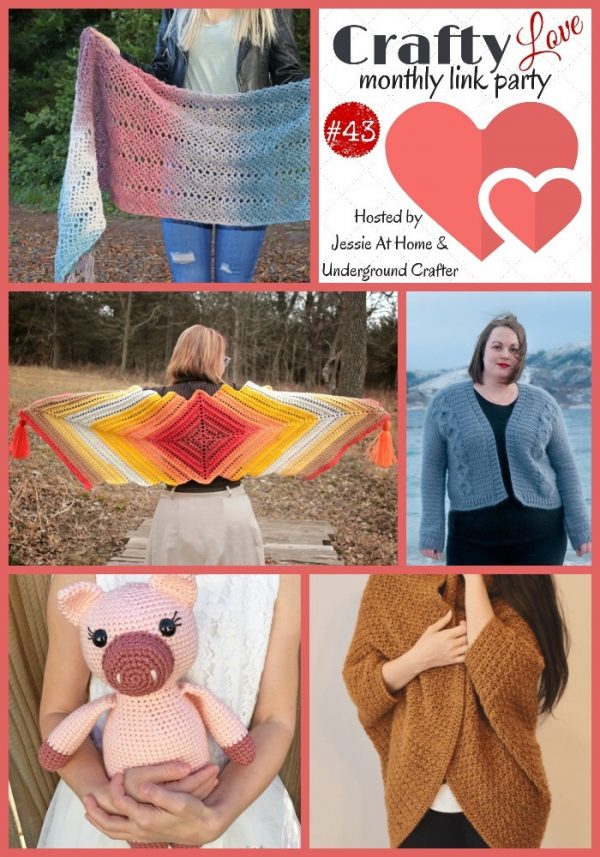 Crafty Love Link Party 43 with Jessie At Home and Underground Crafter - collage of featured posts