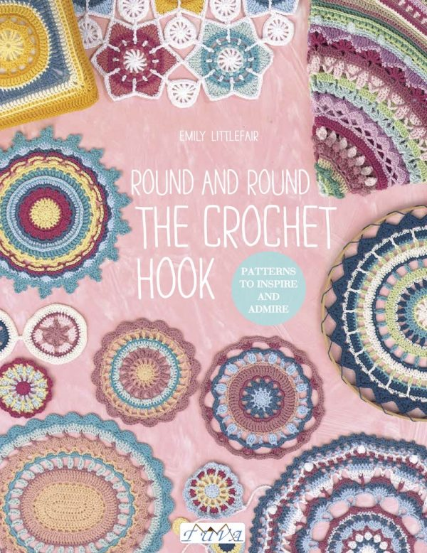 Sunny Citrus Cushion free crochet pattern by The Loopy Stitch via Underground Crafter - Round and Round the Crochet Hook book cover
