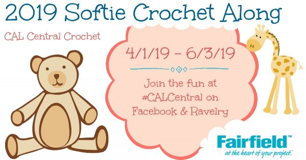 2019 Softie Crochet Along with CAL Central Crochet via Underground Crafter