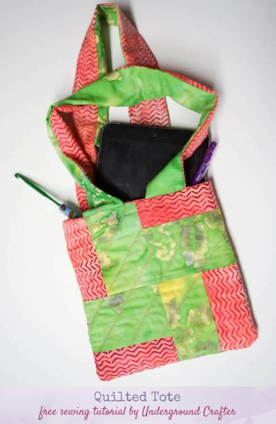 Sewing Pattern: Quilted Tote by Underground Crafter
