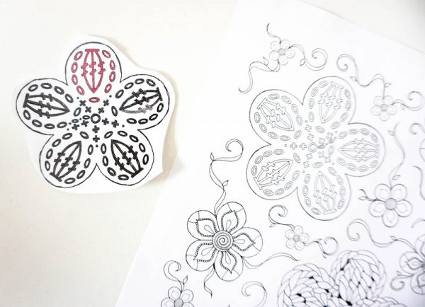 How To Make Granny Square Coasters with Crochet Coloring Pages and Cricut Infusible Ink by Underground Crafter - crochet coloring book pages