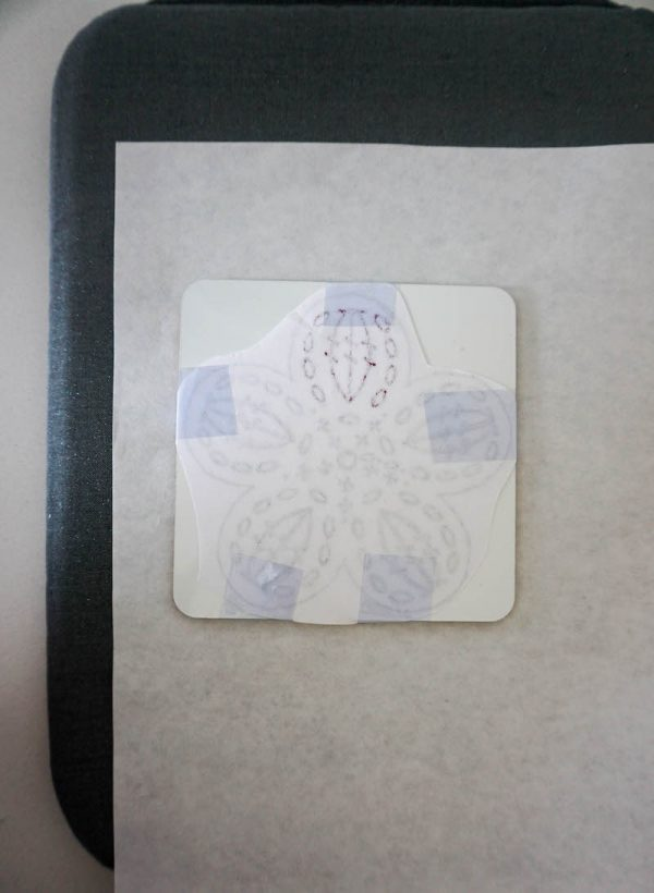 How To Make Granny Square Coasters with Crochet Coloring Pages and Cricut Infusible Ink by Underground Crafter - layering on pad