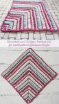 Rosettes and Ridges Washcloth, free crochet pattern in Paintbox Yarns Cotton DK by Underground Crafter
