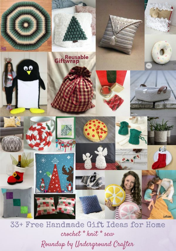33+ Free Handmade Gift Ideas for Home via Underground Crafter - collage