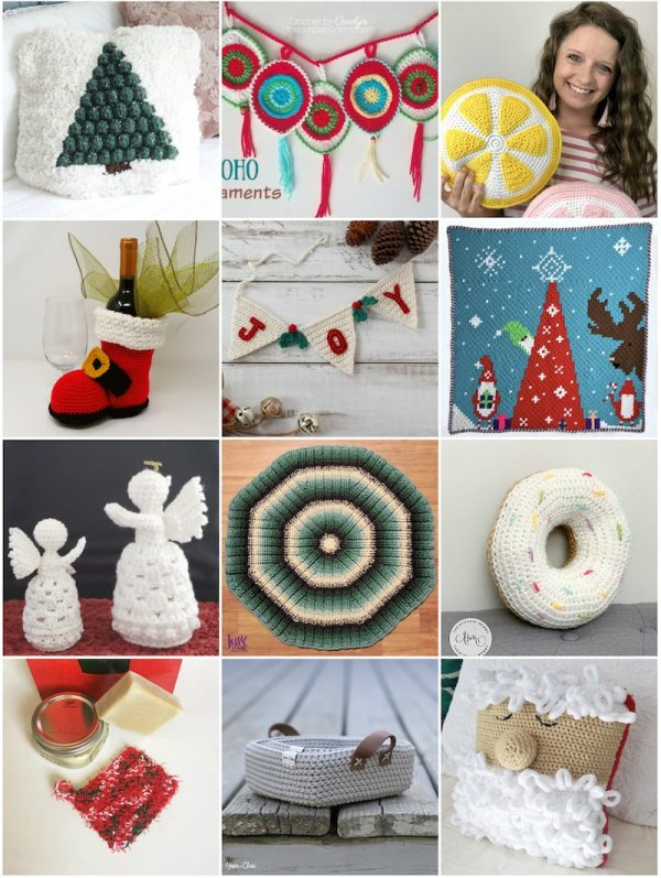 33+ Free Handmade Gift Ideas for Home via Underground Crafter - collage of crochet patterns