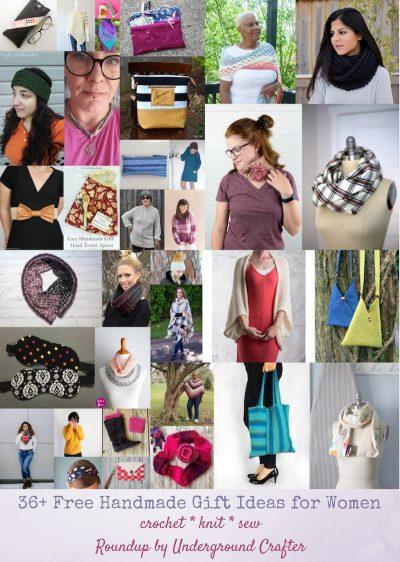 36+ Free Handmade Gift Ideas for Women via Underground Crafter