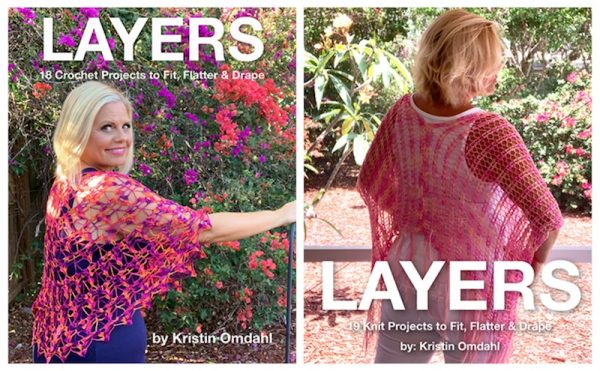 2019 Christmas in July Make Along with Underground Crafter - Kraemer Yarns Perfection - collage of book covers of Layers by Kristin Omdahl
