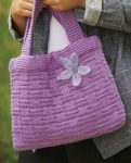 How To Knit Beautiful Bags by Sian Brown Book Review with Flower Basket bag pattern via Underground Crafter - Flower Basket bag