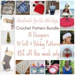 Handmade for the Holidays Crochet Pattern Bundle 2019 via Underground Crafter - collage of selected included crochet patterns