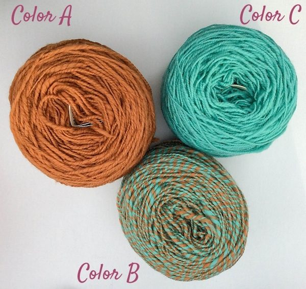 Patina Lace Shawlette, free #crochet pattern in Terra Fibres Handspun Merino Sport yarn by Underground Crafter | Terra Fibres yarn wound