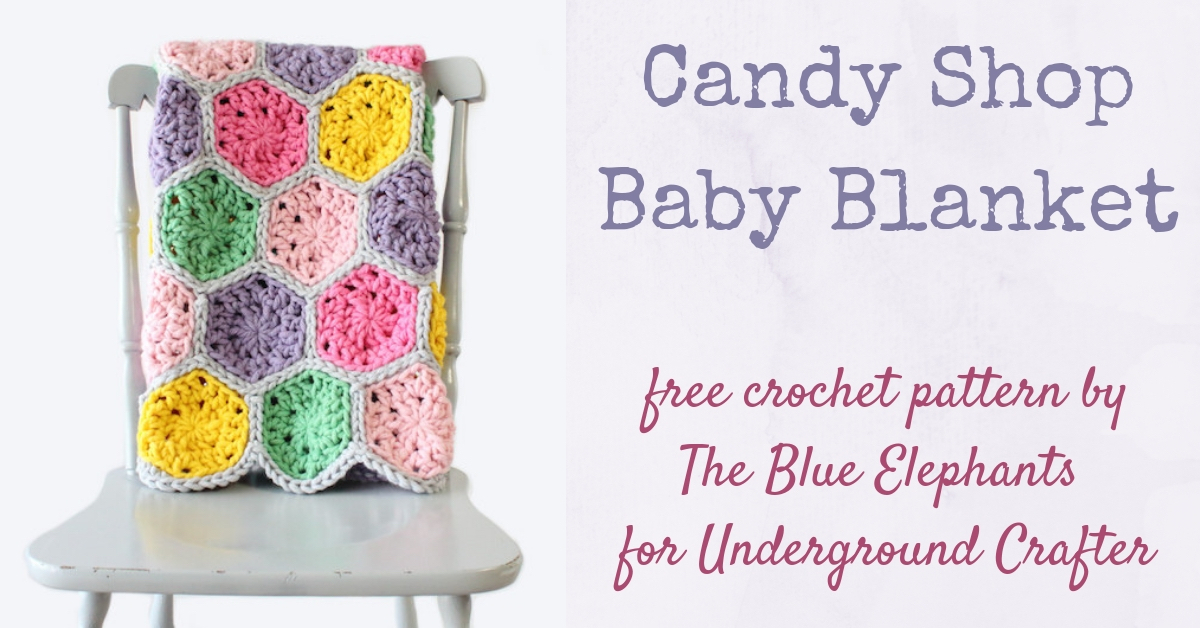 Hexagon Crochet Baby Blanket Candy Shop Blanket By The Blue Elephants Underground Crafter