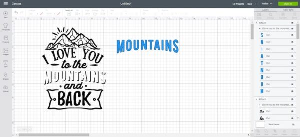 Cricut Basics: Iron-On Vinyl Tutorial by How To Heat Press for Underground Crafter - Cricut Design Space screen capture of SVG image