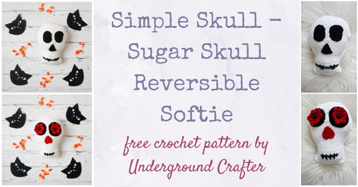 Sugar Skull Kawaii Cuddler™ - Free Crochet Pattern | 3amgracedesigns | 628x1200