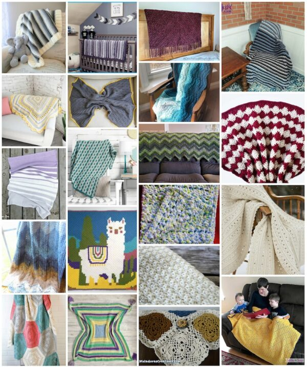 34+ Free Handmade Blanket Projects to Make Great Gifts via Underground Crafter - collage of crochet projects