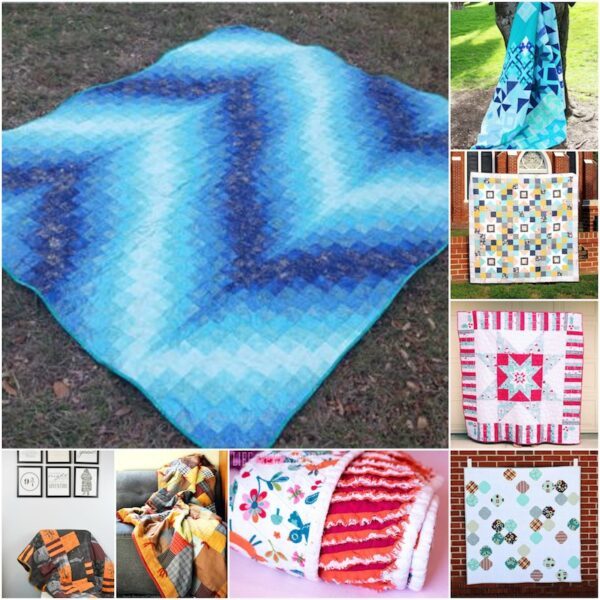 34+ Free Handmade Blanket Projects to Make Great Gifts via Underground Crafter - collage of sewing and quilting projects