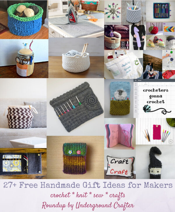 27+ Free Handmade Gift Ideas for Makers via Underground Crafter