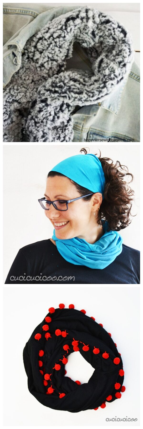 33+ Free Handmade Hat and Scarf Projects to Make Great Gifts via Underground Crafter - collage of fabric crafts project