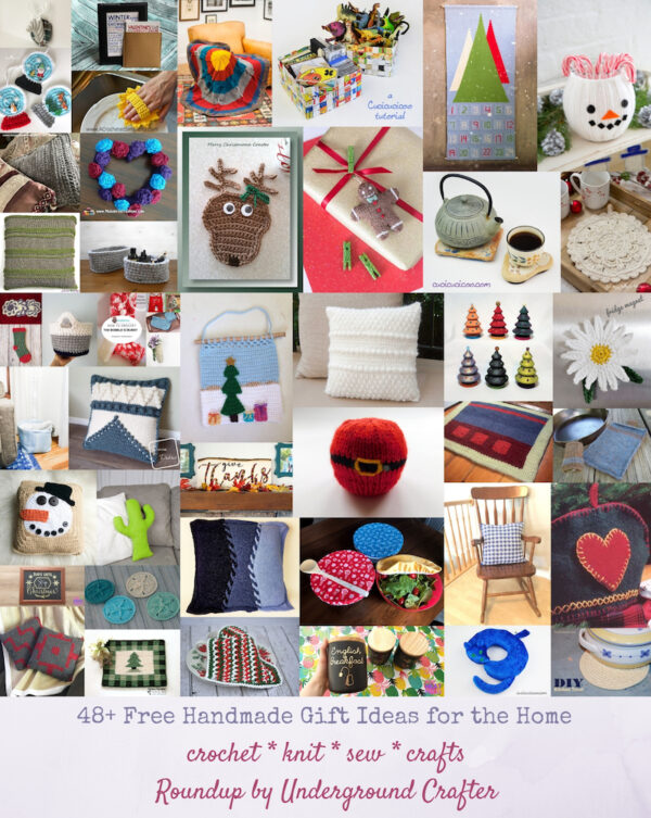 48+ Free Handmade Gift Ideas for the Home via Underground Crafter - project collage