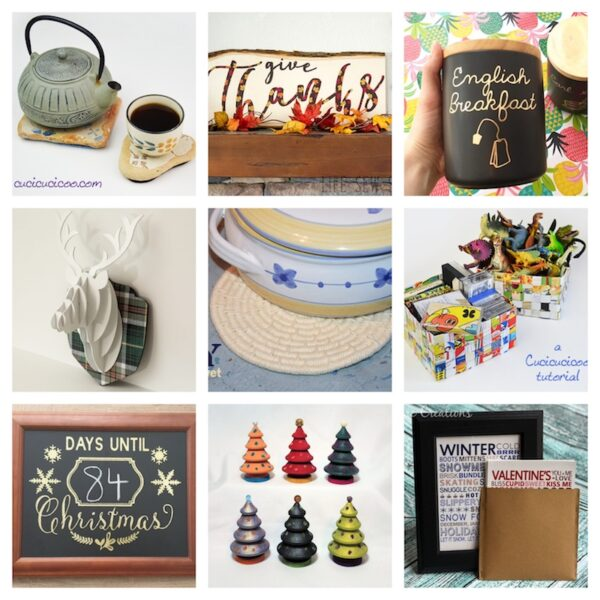 48+ Free Handmade Gift Ideas for the Home via Underground Crafter - 9 free crafts projects collage