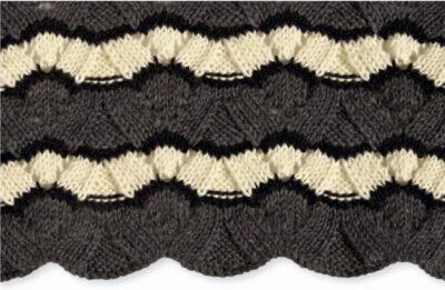 Allsorts, free knitting stitch pattern by Jan Eaton from 200 Ripple Stitch Patterns via Underground Crafter