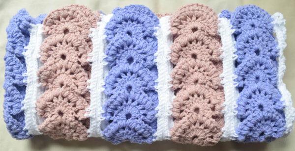 Modern Heirloom Blanket, free crochet pattern by Underground Crafter - folded blanket