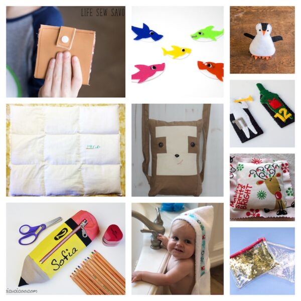 33+ Free #Handmade Gift Ideas for Kids via Underground Crafter - sewing collage