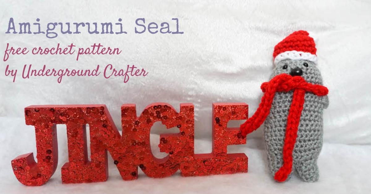 Baby Seal Amigurumi - Free Crochet Pattern - StringyDingDing | 628x1200