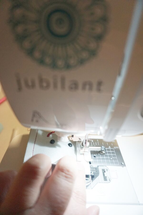 sewing leather on Baby Lock Jubilant