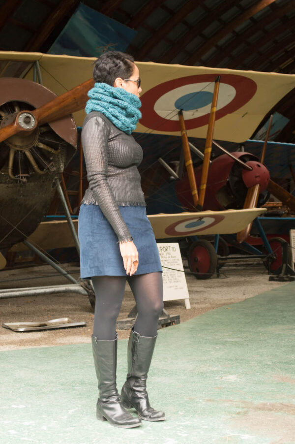 Flying Geese Hooded Cowl by Marie @ Underground Crafter