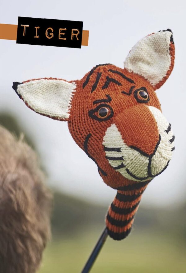Knitted Golf Club Covers By Susie Johns With Tiger Pattern Underground Crafter