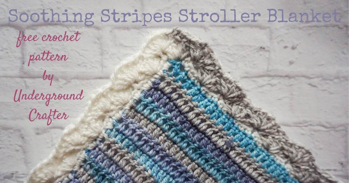 Striped Baby Blanket Soothing Stripes Stroller Blanket Underground Crafter